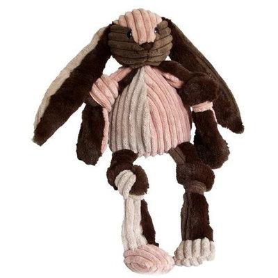 HuggleHounds Patchie Knotties Bunny Dog Toy