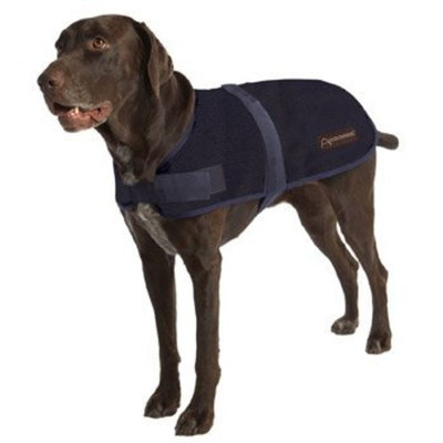 ABO Gear Breathable/Waterproof Dog Coat, Navy Blue, Large (20-22