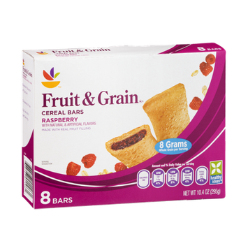 Ahold Fruit & Grain Cereal Bars Raspberry - 8 CT