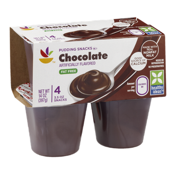 Ahold Pudding Snacks Chocolate Fat Free - 4 CT