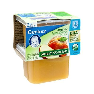 Gerber® Smart Nourish 2nd Foods Apples & Summer Peaches