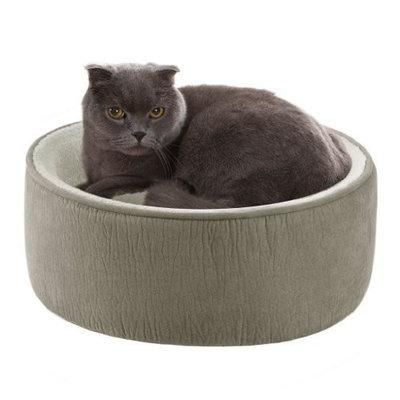 JLA Pets Soft Touch Green Elephant Skin Kitty Kup, 16-Inch