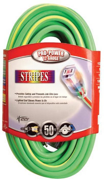 Coleman Cable 02549-52 100ft Green Yellow 12/3 Outdoor Extension Cord