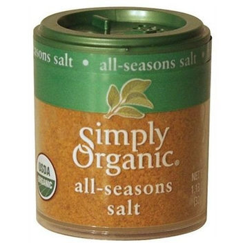 Simply Organic All-Seasons Salt, Certified Organic, 1.13-Ounce Containers (Pack of 6)