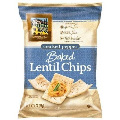 Mediterranean Snacks Baked Lentil Chips 1-ounce (Pack of 24) (Cracked Pepper)