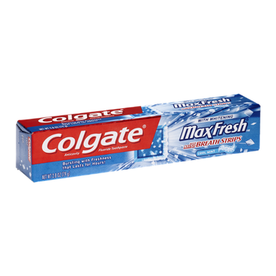 Colgate Fluoride Toothpaste Max Fresh Whitening Cool Mint