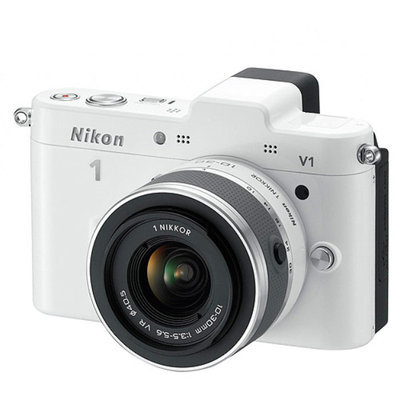 Nikon 1 White V2 Digital SLR Camera with 14.2 Megapixels and 10mm-30mm Lens Included
