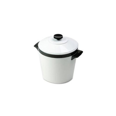 Hormel 451W Ice Bucket Three-Quart with Lid Insulated Shatterproof Liner White with Black Trim