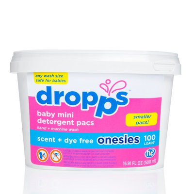 Dropps Baby Hand/Machine Wash Onesies Laundry Detergent Pacs Scent Dye Free