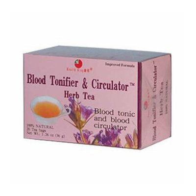 Health King Medicinal Teas Blood Tonifier and Circulator Herb Tea 20 Tea Bags