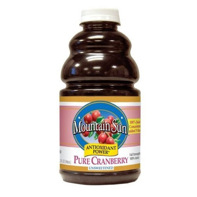 Mountain Sun Antioxidant Power, Pure Cranberry, Unsweetened, 32-Ounce Bottles (Pack of 3)