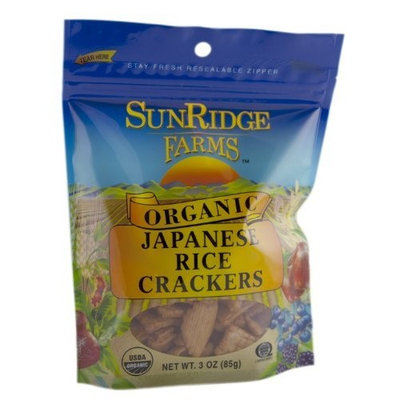 Sunridge Farms Organic Japanese Rice Crackers, 3-Ounce Bags (Pack of 12)