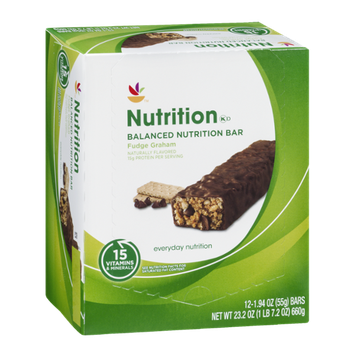 Ahold Nutrition Bar Fudge Graham - 12 CT