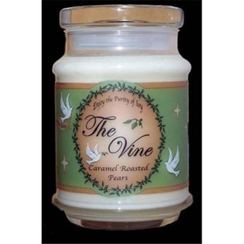 The Vine Candles 09405X Candle Jar Caramel Roasted Pears Soy Matt 11 28 12 Oz