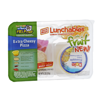 Lunchables Oscare Mayer Extra Cheesy Pizza with Fruit Lunch Combinations