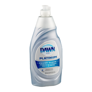 Dawn Ultra Platinum Power Clean Dishwashing Liquid Refreshing Rain Scent