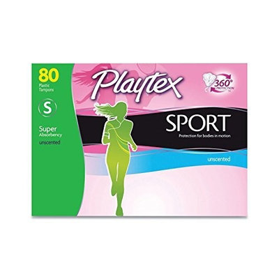 Playtex Sport Tampons Super Absorbency Unscented (80 ct.)