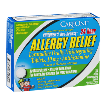 CareOne 24 hour Children's Non-Drowsy Allergy Relief Orally Disintegrating Tablets 10 mg - 10 CT