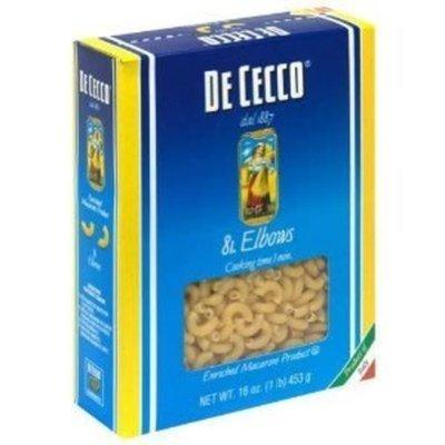 De Cecco, Pasta ELBows, 16 OZ (Pack of 20) ( Value Bulk Multi-pack)