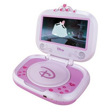 disney princess 7 portable dvd player p7100pd pink reviews find the best dvd players. Black Bedroom Furniture Sets. Home Design Ideas