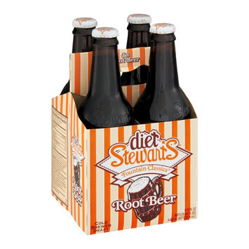 Stewarts Fountain Classics Root Beer Diet - 4 CT