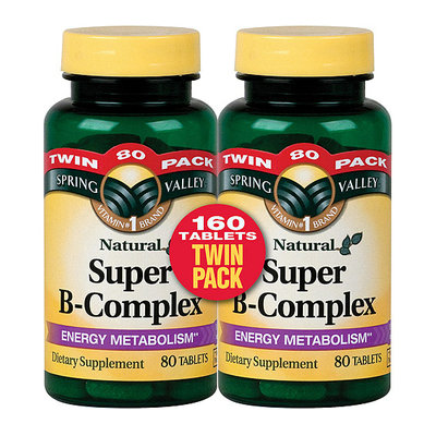 Spring Valley Natural Super B-Complex Tablets