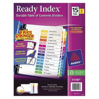 Avery Ready Index Contemporary Contents Letter Sized Divider with