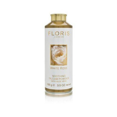 Floris White Rose by Floris London for Women 3.5 oz Soothing Talcum Powder with Aloe Vera