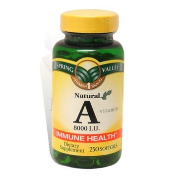 Spring Valley - Vitamin A 8000 IU, 250 Softgels