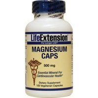Life Extension Magnesium 500 Mg Vegetarian Capsules, 100 Count