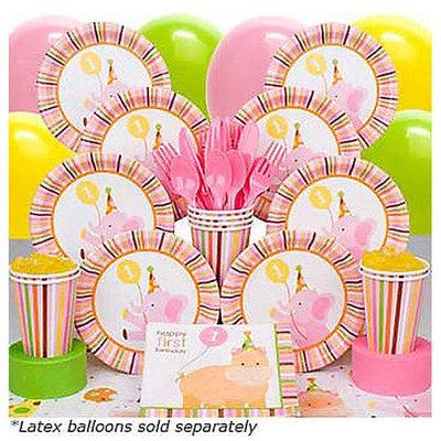 Costume Super Center First Birthday Decoration Kit - Baby Animals (Girl)