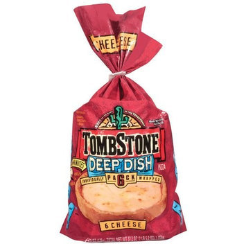 TOMBSTONE Deep Dish Cheese Pizza, 6.2 oz, 6 count