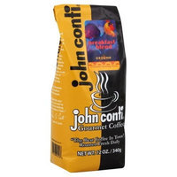 John Conti Coffee, Breakfast Blend, Ground, 12-Ounce (Pack of 2)
