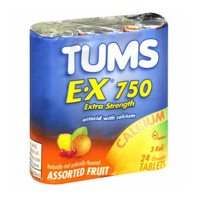Tums E-X 750 Assorted Fruit Antacid/Calcium Supplement