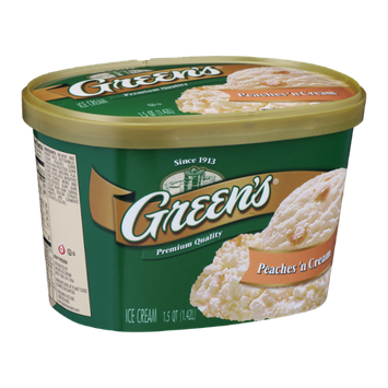 Green's Ice Cream Peaches 'n Cream