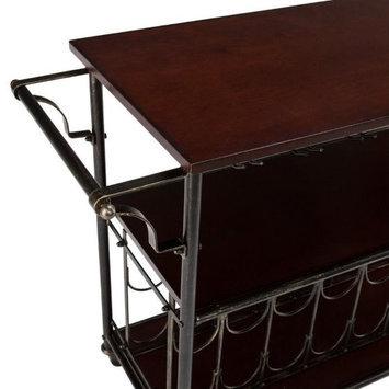 Southern Enterprises HZ2047 Rolden Espresso Wine/Bar Cart