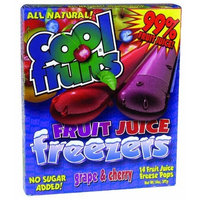 Cool Fruits Grape & Cherry Freeze Pops 14 oz. (Pack of 24)