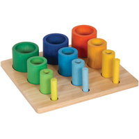 Guidecraft Nest & Stack Cylinders, 1 ea