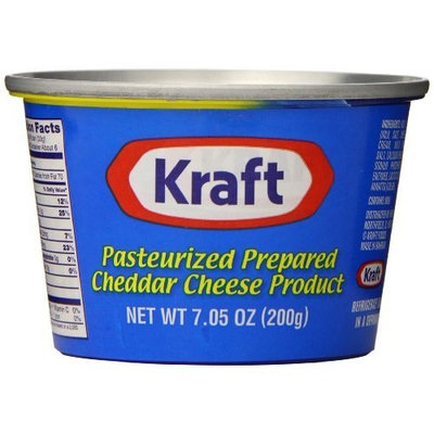Kraft Foods Kraft Prepared Pasturized Cheddar Cheese, 7.05 Ounce