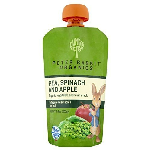 Peter Rabbit Organics, Pea, Spinach and Apple Puree, 4.4-Ounce Pouches (Pack of 10)