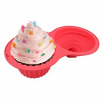 GGI International Silicone Jumbo Cupcake Mold, Red, 8.8 oz, 1 ea