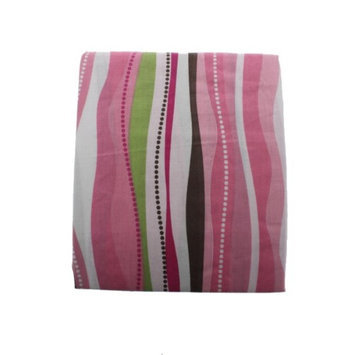 Tiddliwinks Raspberry Garden Striped Baby Crib Fitted Sheet