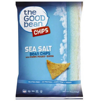 The Good Bean Sea Salt Bean Chips, 5 oz, (Pack of 12)