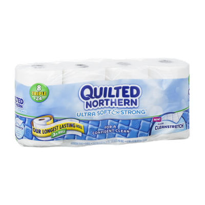 Quilted Northern with Cleanstretch Triple Rolls - 8 CT