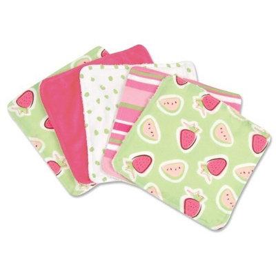 Trend Lab Five Wash Cloths, Juicie Fruit Pattern