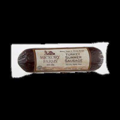 Hickory Farms Brown Sugar & Honey Recipe Turkey Summer Sausage