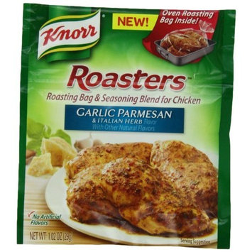 Knorr Roasters Roasting Bag and Seasoning Blend for Chicken, Garlic Parmesan and Italian Herb, 1.02 Ounce Packages (Pack of 12)