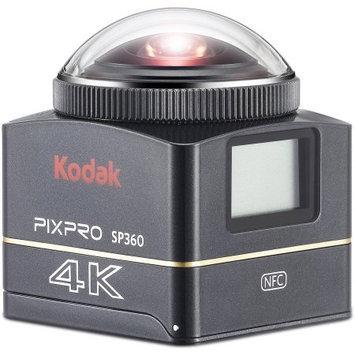 Kodak PIXPRO SP360 4K Action Camera Premier Pack, with Standard Housing, Curved / Flat Adhesive Mount, Bar Mount, Suction Cup Mount, L-Type Bracket Mount, L-Type Bracket Adhesive, PIXPRO Desktop Editing Software, PIXPRO SP360 Stitch Software