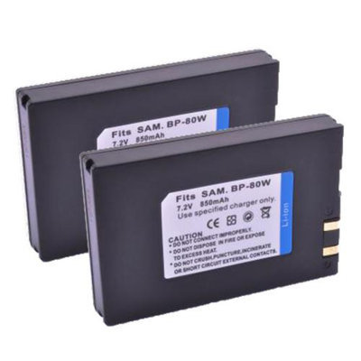 Battery for Samsung IA-BP80W (2-Pack) Camera Battery