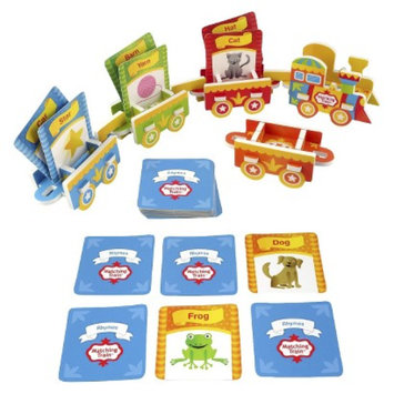 Mindware Matching Train: Train Puzzle & Rhyming Card Pack